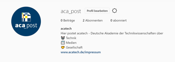 acatech goes Instagram